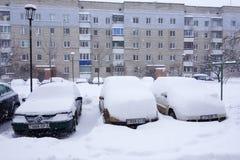 The cyclone Daniella in Brisov-city Royalty Free Stock Photo