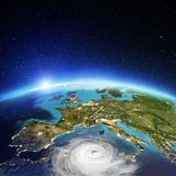 Cyclone de l'Europe rendu 3d Photographie stock libre de droits