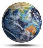 Cyclone de la terre de planète rendu 3d Photo libre de droits