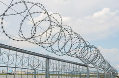Cyclone fence Royalty Free Stock Photo