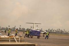 Cyclone Idai de conséquence et cyclone Kenneth en Mozambique et au Zimbabwe, photographie stock libre de droits