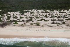 Cyclone Idai de cons?quence et cyclone Kenneth en Mozambique et au Zimbabwe photographie stock libre de droits