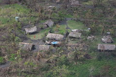 Cyclone pam in Vanuatu. Vanuatu damage after cyclone Pam hit Stock Photos