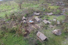 Cyclone pam in Vanuatu. Vanuatu damage after cyclone Pam hit Stock Photo