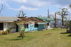 Cyclone pam in Vanuatu Stock Image
