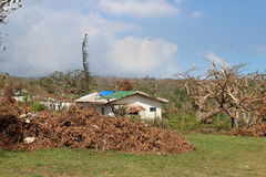 Cyclone pam in Vanuatu. Vanuatu damage after cyclone Pam hit Royalty Free Stock Image
