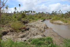 Cyclone pam in Vanuatu. Vanuatu damage after cyclone Pam hit Stock Images