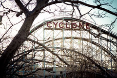 Cyclone Roller Coaster. The Cyclone - Coney Island Roller Coaster Stock Images