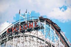 Cyclone Roller Coaster Ride Stock Image