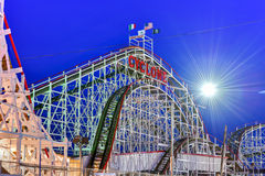 Cyclone Rollercoaster - New York City Stock Photography