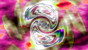 Cyclone widescreen. Swirling opposing shapes of color on a background of clouds in contrasting colour in widescreen format royalty free illustration