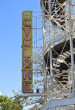 Cyclone. Wood attraction in Coney Island royalty free stock images