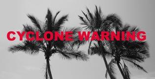 Cycloonwaarschuwing, risico voor openbare veiligheid Stock Foto's