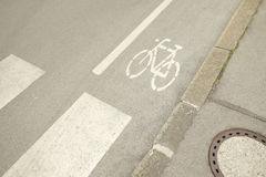 Cyclopath bike route Stock Photography