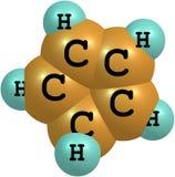 Cyclopentadiene molekylär struktur på vit bakgrund Fotografering för Bildbyråer