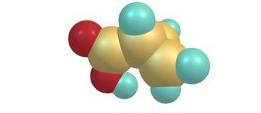 Cyclopropane carboxylic acid molecular structure isolated on white. Cyclopropane carboxylic acid molecule isolated on white background. 3d illustration Royalty Free Stock Image