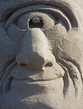 Cyclops Made out of Sand Royalty Free Stock Images