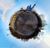 Cyclorama de uma cidade Fotos de Stock Royalty Free