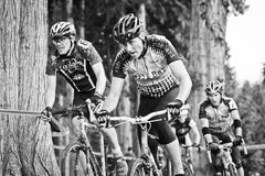 Cycloross Racers in an event Stock Images