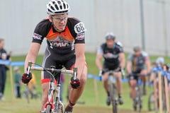 Cycloross Rennläufer in einem Ereignis Lizenzfreie Stockfotos