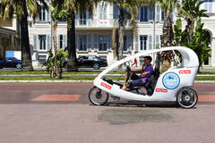 Cyclotour在尼斯,法国 免版税库存照片