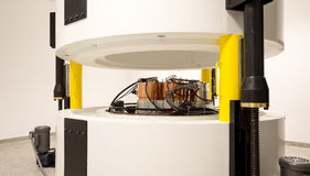 Cyclotron machinery for radionuclides synthesis and isotope production Stock Photo