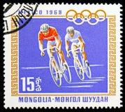 Cyclus die, de Zomerolympics 1968, Mexico serie, circa 1968 rennen stock afbeeldingen