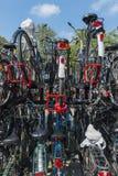 Cyclus die in Utrecht Nederland wordt afgeworpen Royalty-vrije Stock Afbeeldingen