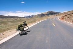 Cyclus het reizen stock foto