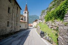 Cyclus het reizen in Italië stock afbeeldingen