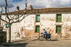 Cyclus het reizen in Spanje stock foto