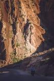 Cyclus het reizen in Yunnan royalty-vrije stock foto's