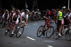 Cyclus-ras met Andy Schleck Stock Foto