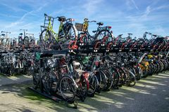 Cycluspark in Amsterdam, Nederland royalty-vrije stock fotografie