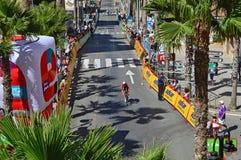 Cyclusras 2016 de Tijd proeftt van La Vuelta España Cursus Royalty-vrije Stock Afbeeldingen