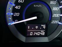 Cyclussnelheidsmeter en van auto Royalty-vrije Stock Foto's