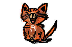 Cycowego kota nakreślenie Obrazy Royalty Free