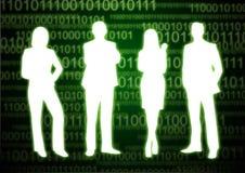 4 cyfr binarnej ludzi obraz stock