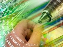 cyfr ręki pióro Zdjęcie Stock