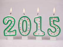 Cyfr świeczki 2015 Obrazy Royalty Free