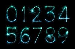 Cyfra ustawiająca fajerwerków sparklers Zdjęcie Stock