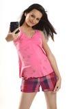 cyfrowa kamery dziewczyna Zdjęcie Stock