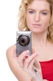cyfrowa kamery kobieta Zdjęcie Royalty Free