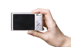 cyfrowa kamery ręka Zdjęcie Stock