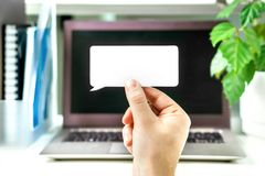 Cyfrowa komunikacja i marketing, komentowanie online obraz royalty free