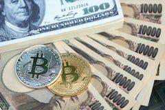 Cyfrowa waluta kawałka moneta zrobi srebro i złoto plac obrazy royalty free