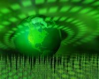 cyfrowa zielona planeta royalty ilustracja