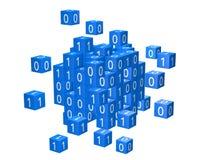 Cyfrowanie, informatics pojęcie z zero i ones, Zdjęcia Royalty Free
