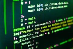 IT cyfrowanie na monitoru ekranie Pytonu programowanie zdjęcia royalty free