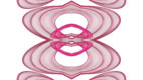 Cyfrowego abstrakcjonistyczny czerwony graficzny projekt na białym tle ilustracja wektor